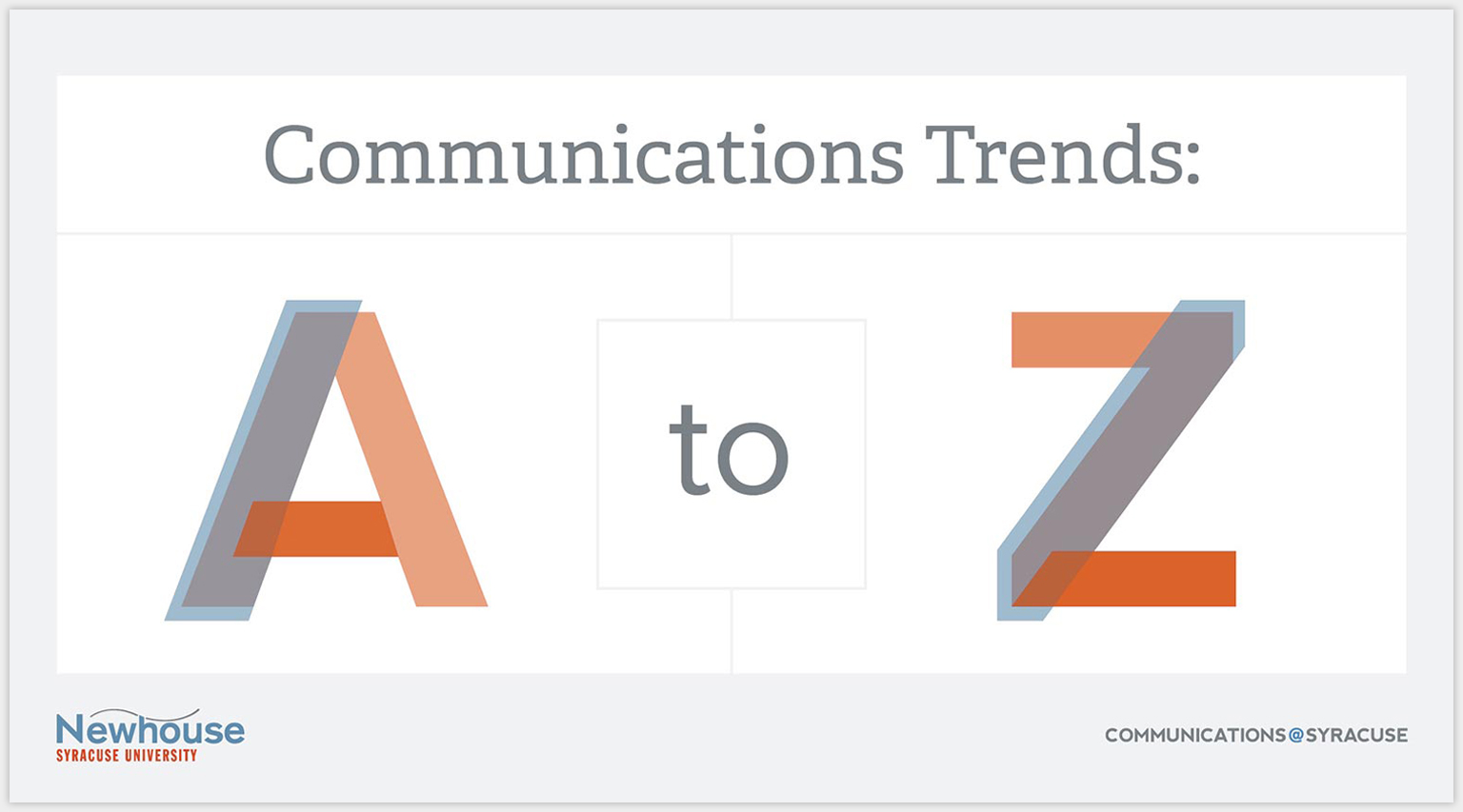 Communication Trends Cover